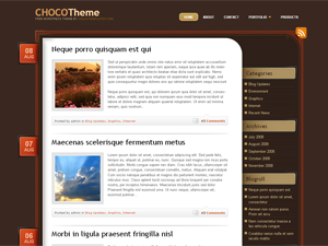 WP blog nice chocolate themes