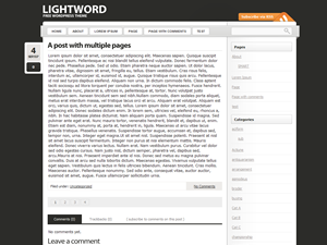 Black and white wp blog theme