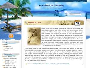 One of wordpress nature themes - Beach Holiday