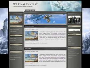 WP Final Fantasy theme